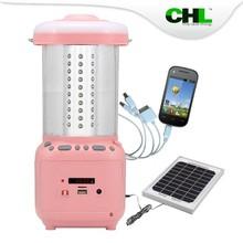 2015 new CHL solar garden lantern with fm radio, usb mobile phone charger