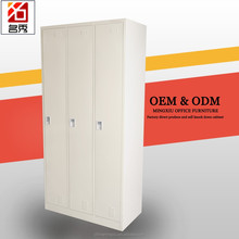 Top quality 3 door bedroom wardrobe modern design home use steel clothes locker