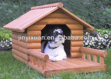 Comfortable wooden dog kennel with Porch / wooden dog house / wood pet house