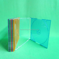 Promotional gift plastic 5.2mm ps slim colorful cd box