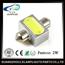 2W LED Car Light high power COB LED Lamp LED Width Lamp Reading Lamp DC 12V Energy Saving Light Festoon 31mm