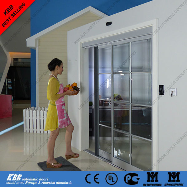 Residential automatic sliding door security glass aluminum for Residential sliding glass doors