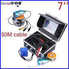 HD 800 TVL 50M underwater fishing camera ice fishing camera fish finder camera CR110-7LS with SUN-VISOR