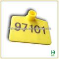 los números de plástico rfid uhf ganado oído etiqueta