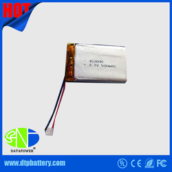 UL approved rechargeable 3.7v lithium polymer battery 453030