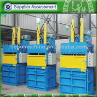 Hydraulic baler for plastic film