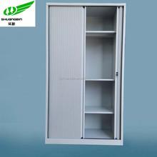 Metal furniture lockable metal knock down filing storage roller shutter door cabinet