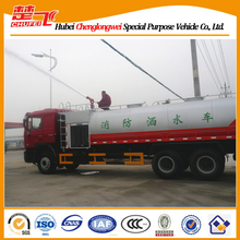 Shacman 3 axles 6x4 Euro 4 14000L water tank inflatable fire truck slide 0086-13872897558