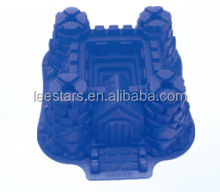 Castle cake mould/ cake pan, silicone baking moulds