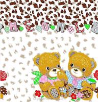 bear family and tiger print design kids bedding set printing fabric