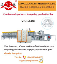 Electric pot cover glass lid tempering furnace machine