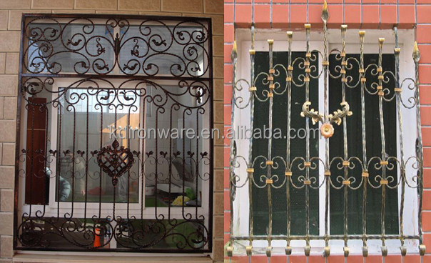 simple modern new house wrought iron metal window grill On iron window design house