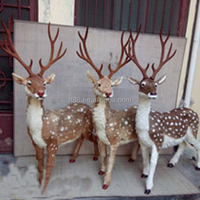 personalized ornaments wholesale lifesize reindeer with fur