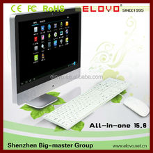15.6inch desktop all-in-one PC with TV function 1g/16g dual core Android4.2 VIA WM8880