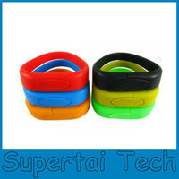 OEM Logo Promotion Corporate Gifts Silicon Bracelet Usb Flash Drive 8gb