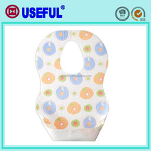 2015 wholesaler for infant Disposable 3-ply Non-woven disposable Baby Bib