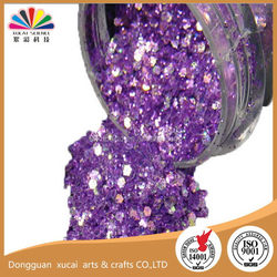 Economic best sell nail polish pet glitter pigment powder