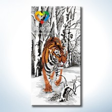 tiger oil painting 40*80cm oil painting by numbers kits