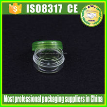 small pet jar with colorful lid /clear plastic jar with lids,PET clear plastic jar 10g wit red screw lid
