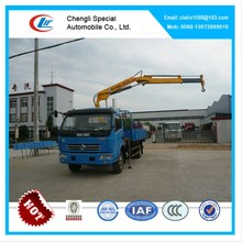 DongFeng 3.2ton knuckle boom crane truck, telescopic folding crane mounted truck