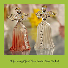 popular delicate design decoratiom crystal blown glass angel