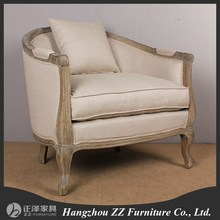 European style furniture vintage one seat sofa chair