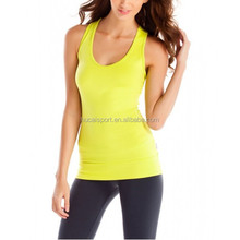 Wholesale Cheap Ladies Workout Sexy Casual Fitness elastic Yoga Shirts Sports wear Tank tops for Women