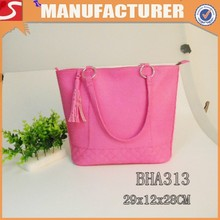 Newest fashion exported trendy pu leather handbags for girls