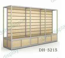 New arrive double sided mobile phone slatwall showcase with cabinet and light