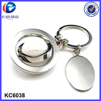 Fashion metal sport key ring golf ball Keychain