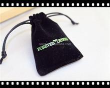 2015 new custom jewelry velvet bag & drawstring velvet pouch