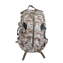 China new durable large capacity outdoor military woodland camouflage canvas backpack hunting bag