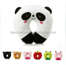 Children Polyester Cotton Neck Pillow, U-shape Inflatable Travel Pillow