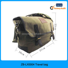 2015 high quality army green canvas duffle bag, canvas travel shoulder bag for men, canvas travel bag