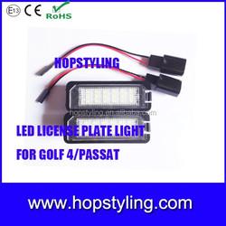 Direct manufacture Golf 5 Golf 6 Golf 7 led license plate light led tail light license plate light for VW Golf4 Passat
