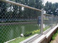 Chain link fence panels / chain link fence rolls used for swimming pool fence