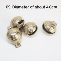 Pet tiger original copper copper bell bell DIY handmade accessories copper bell bell evil Feng Shui Diameter 4.0cm