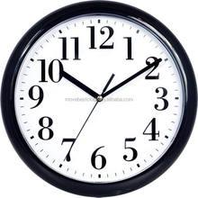 Plastic home decorating ideas round shape wall clock