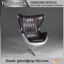 Arne Jacobsen Egg Shaped Chair With Aluminium Back , Luxury Modern Office Furniture