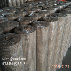 20 M Roll Welded Wire Mesh Graden Pet Fence Animal Chicken Coop Aviary Fencing , Galvanzied Welded Wire Mesh