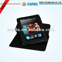 """Top quality for kindle fire HD 7"""" 360 rotating pu leather case"""