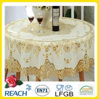 Elegant lace sequin tablecloth jenny bridal 182cm round