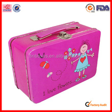 rectangle handle wholesale rectangular tin lunch box