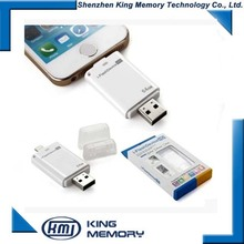 wholesale best price 8gb 16gb 32gb 64gb OTG USB pendrive for iphone usb stick memory for iphone
