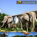 Mi - dino moderna de tamaño natural animatronic animal elefante escultura