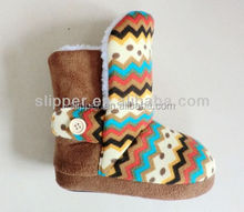 2015 warm kids fleece lining cable knit baby winter snow boots baby shoes