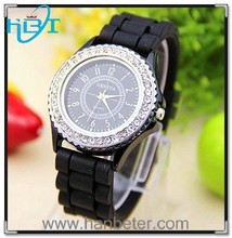 2015 High quality hot sale fashion colorful geneva diamond quartz watch company