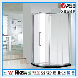open from right hand circular with frame shower