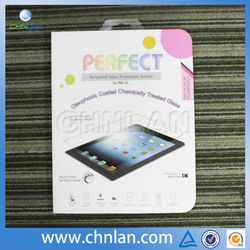 Best price 9H 0.33mm straight edge tempered glass screen protector for ipad air