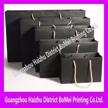 Black color luxury paper shopping bag